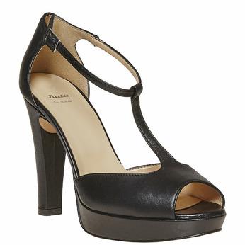 Sandale en cuir pour femme bata, Noir, 724-6708 - 13
