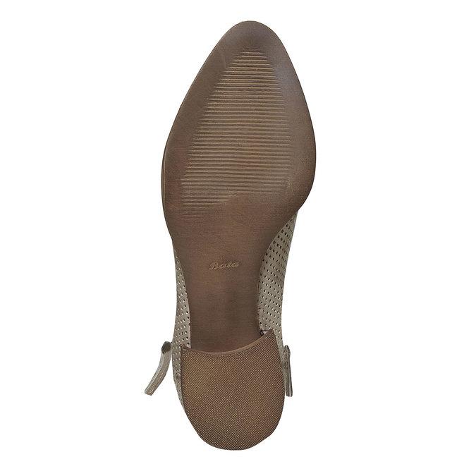 Bottine en cuir bata, Beige, 594-2400 - 26