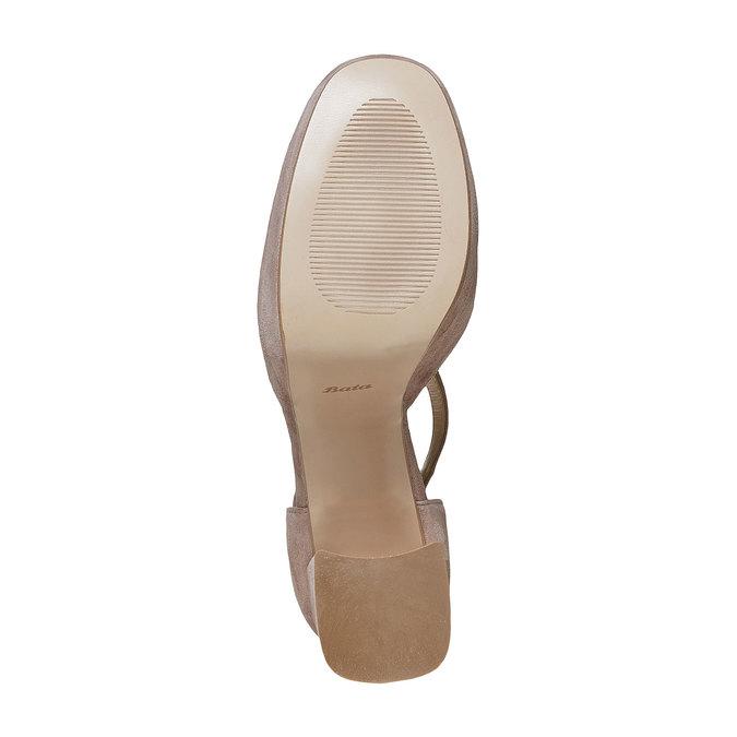 Escarpin en cuir pour femme insolia, Gris, 723-2962 - 26