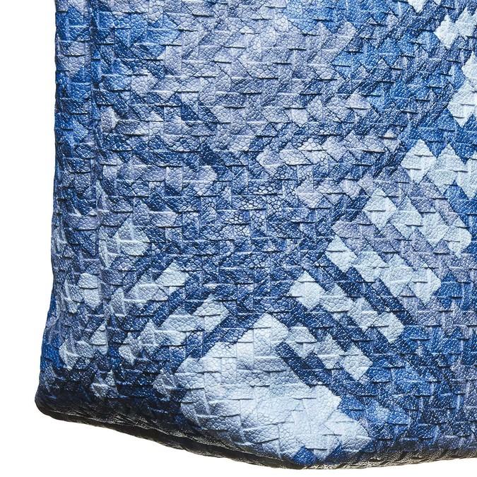 Sac à main bleu pour femme à motif bata, Bleu, 961-9310 - 17