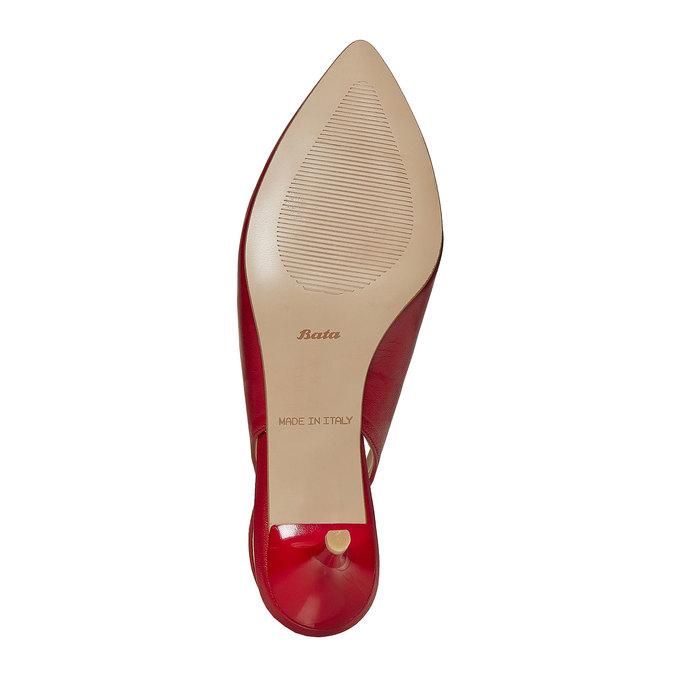 Escarpin pointu en cuir rouge bata, Rouge, 724-5677 - 26