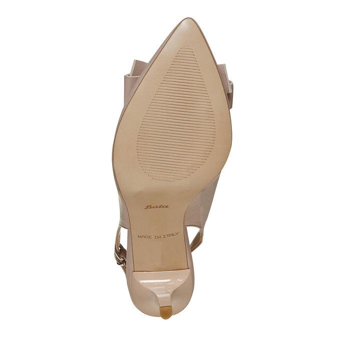 Escarpin en cuir ouvert à l'arrière bata, Jaune, 724-8703 - 26