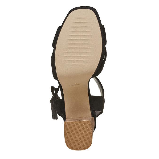 Sandale noire à talon effet bois insolia, Noir, 763-6502 - 26