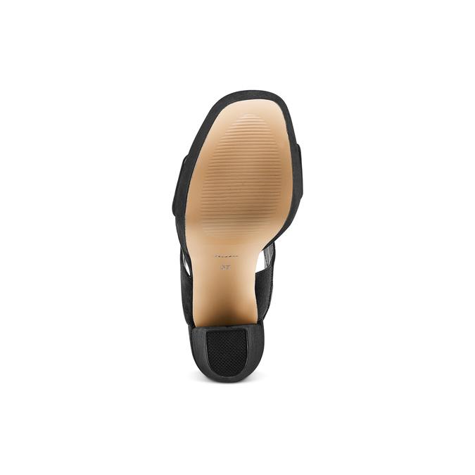 Sandale à talon massif bata, Noir, 769-6541 - 19