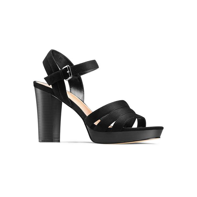 Sandale femme à talon stable insolia, Noir, 769-6700 - 13