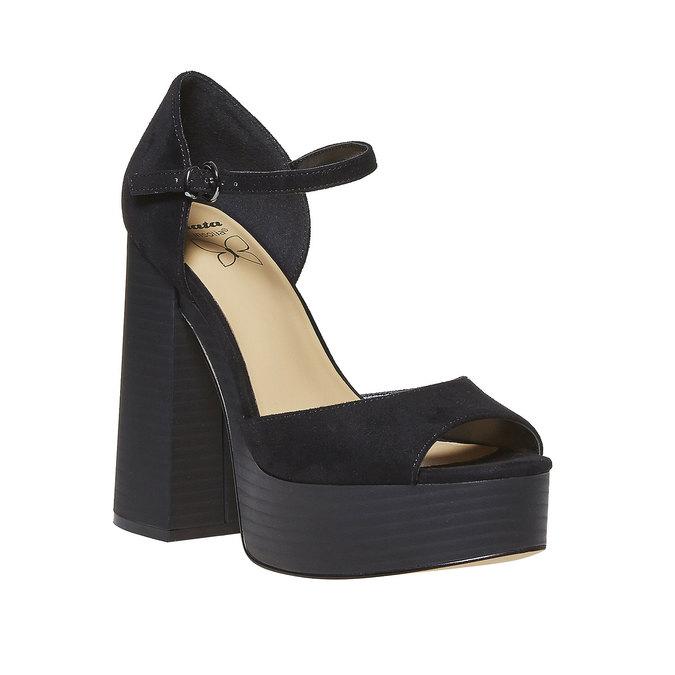 Sandale femme à talon massif insolia, Noir, 769-6493 - 13