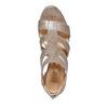Sandale dorée femme insolia, Jaune, 761-8399 - 19