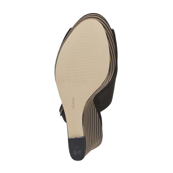 Sandale à plateforme rayée insolia, Noir, 769-6563 - 26