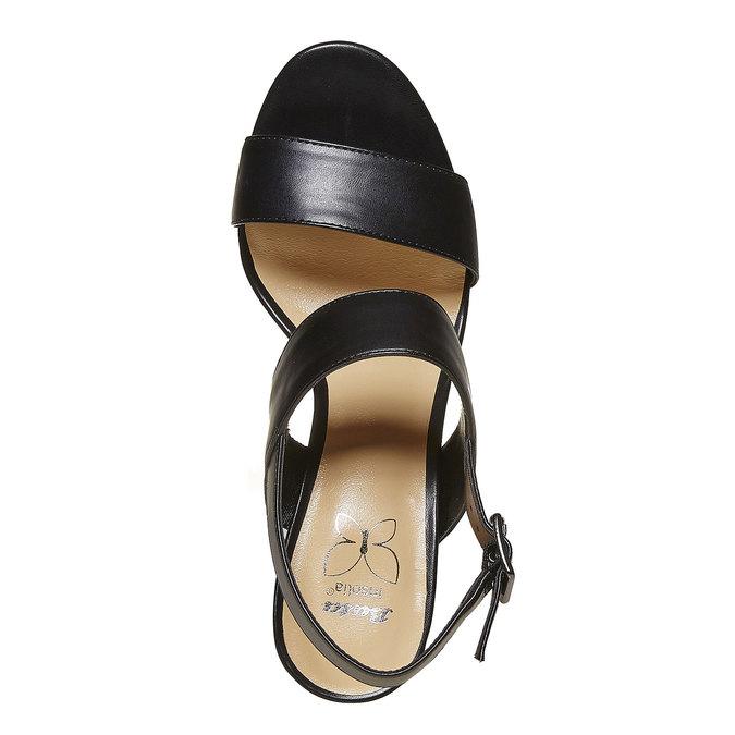 Sandale noire à talon massif insolia, Noir, 761-6727 - 19