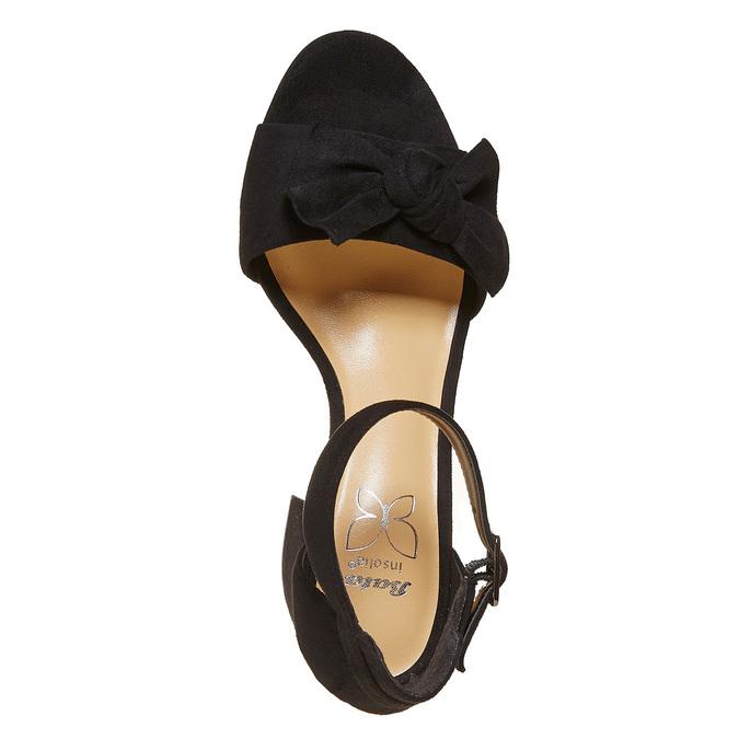 Sandale à talon avec nœud insolia, Noir, 769-6253 - 19