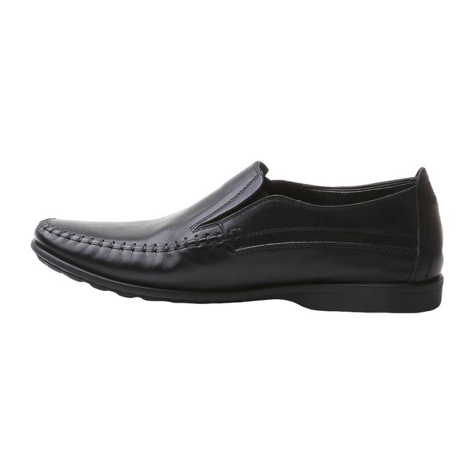 Loafers décontractées bata-comfit, Noir, 854-6833 - 15