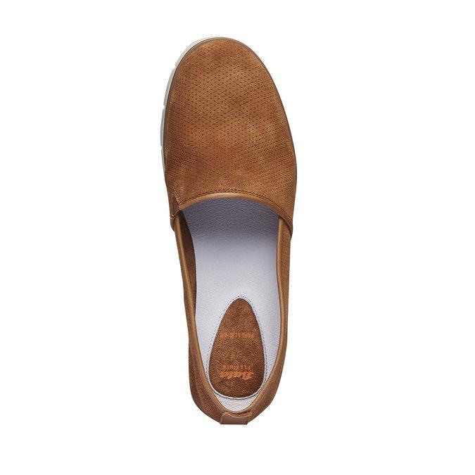 Slip on en cuir perforé flexible, Brun, 513-3200 - 19