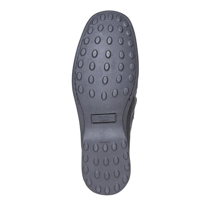 Loafers décontractées bata-comfit, Noir, 854-6833 - 26