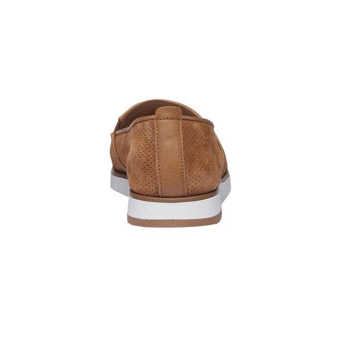 Slip on en cuir perforé flexible, Brun, 513-3200 - 17