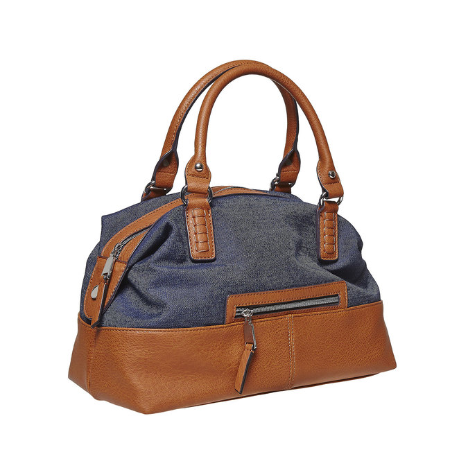 Grand sac à main femme bata, Violet, 969-9354 - 13