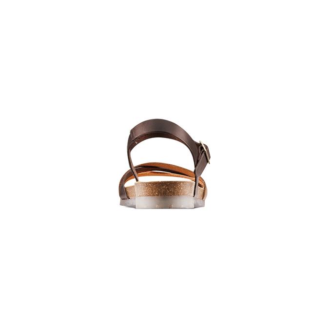 Sandale en cuir pour femme weinbrenner, Brun, 564-4254 - 15