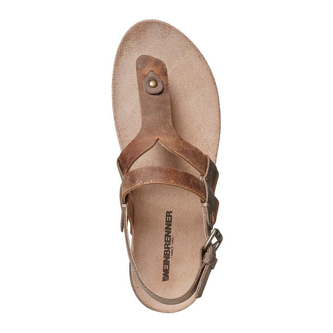 Sandale en cuir femme weinbrenner, Brun, 566-4449 - 19