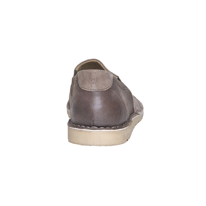Slip-on en cuir pour homme bata, Brun, 853-4241 - 17