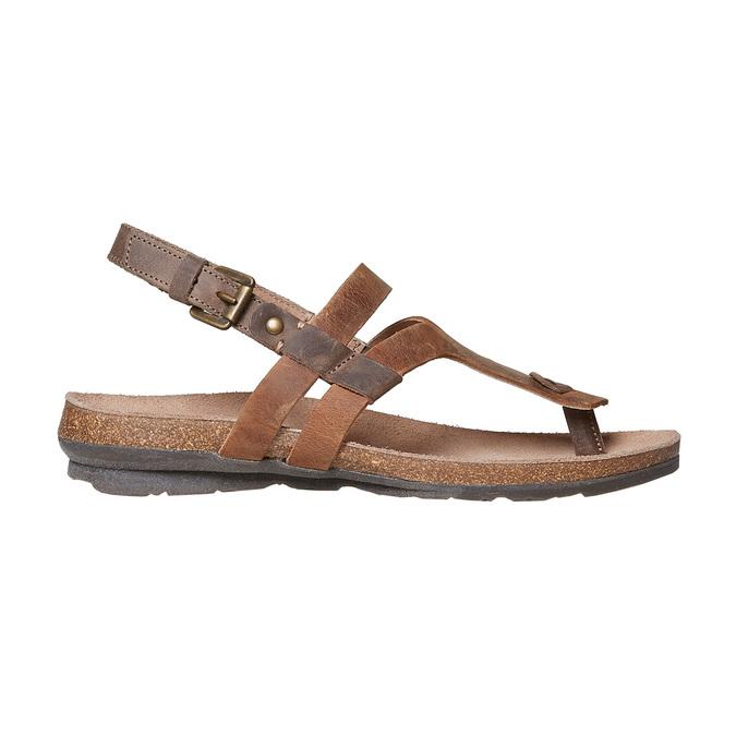 Sandale en cuir femme weinbrenner, Brun, 566-4449 - 15
