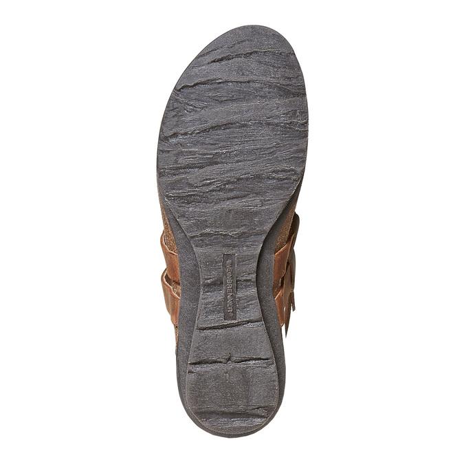 Sandale en cuir femme weinbrenner, Brun, 566-4449 - 26
