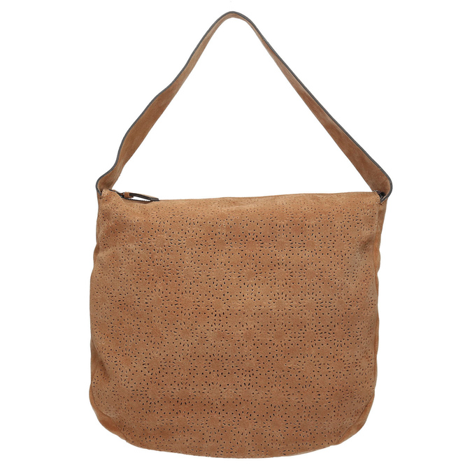 Sac à main en cuir chamoisé bata, Brun, 963-3137 - 17