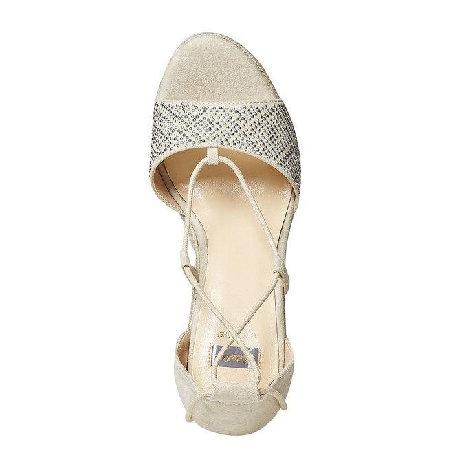 Sandale crème à plateforme effet naturel bata, Jaune, 769-8573 - 19