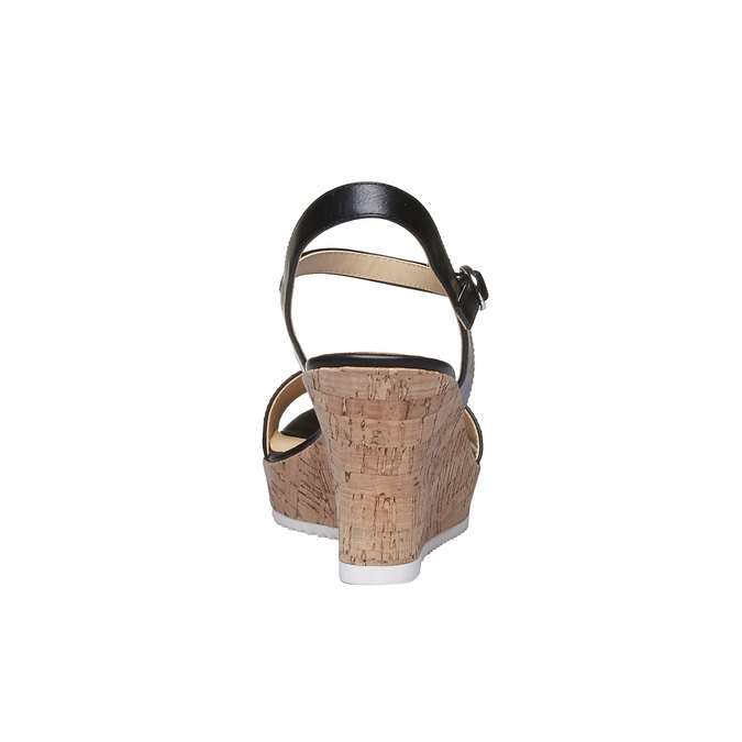 Sandale à plateforme pour femme bata, Noir, 761-6523 - 17