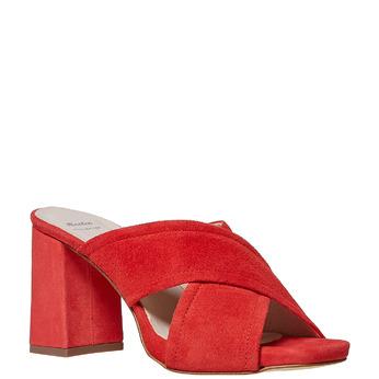 Mule en cuir rouge bata, Rouge, 763-5579 - 13