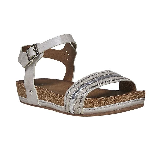 Sandale femme à semelle épaisse bata, Gris, 561-2404 - 13