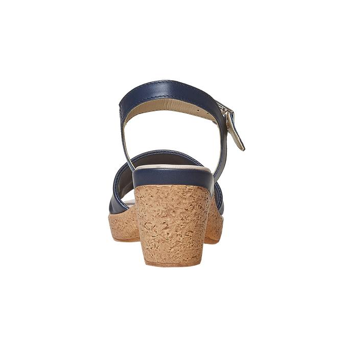 Sandale bleue à talon effet naturel bata-touch-me, Violet, 664-9231 - 17