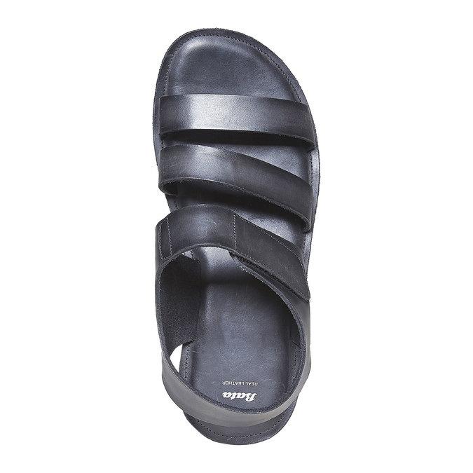 Sandale en cuir homme bata, Noir, 864-6260 - 19