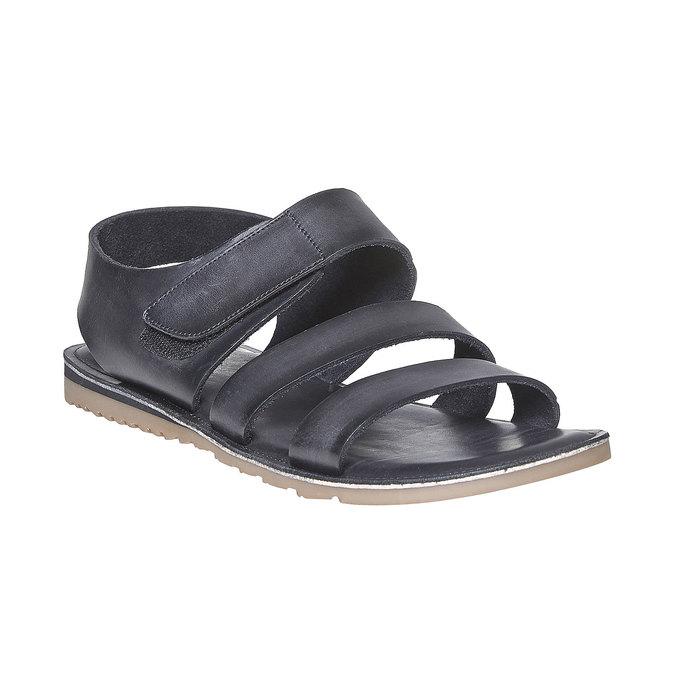 Sandale en cuir homme bata, Noir, 864-6260 - 13