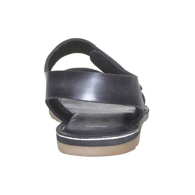 Sandale en cuir homme bata, Noir, 864-6260 - 17