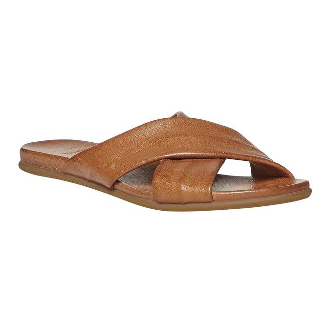 Nu-pied en cuir femme bata, Brun, 564-3444 - 13