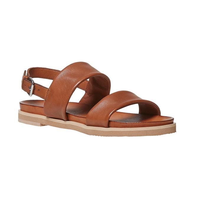 Sandale en cuir marron bata, Brun, 564-3446 - 13