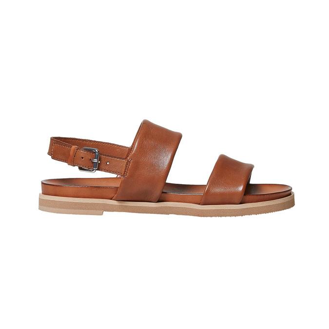 Sandale en cuir marron bata, Brun, 564-3446 - 15