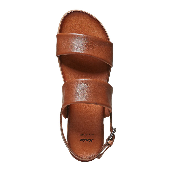 Sandale en cuir marron bata, Brun, 564-3446 - 19