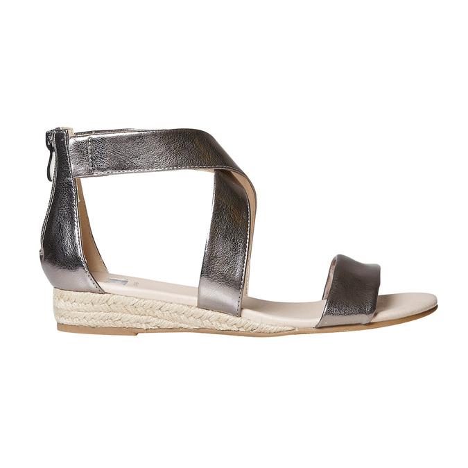 Sandale femme à petit talon compensé bata, Blanc, 561-1505 - 15