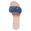 Mule à franges en cuir bleu bata, Violet, 573-9354 - 19