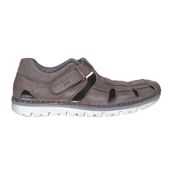 Sandale en cuir à semelle épaisse weinbrenner, Brun, 864-4267 - 15