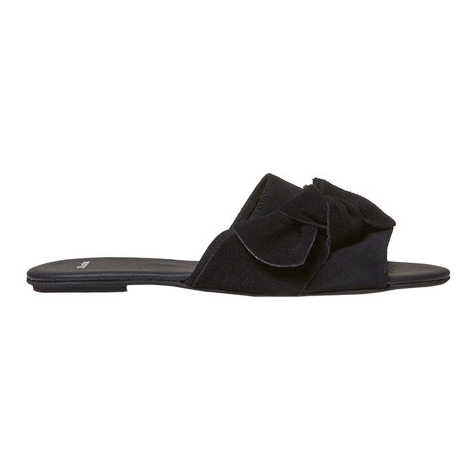 Mule en cuir noire bata, Noir, 563-6411 - 15