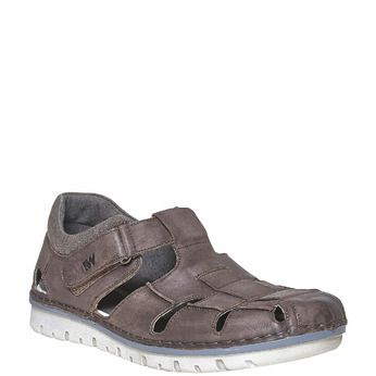 Sandale en cuir à semelle épaisse weinbrenner, Brun, 864-4267 - 13