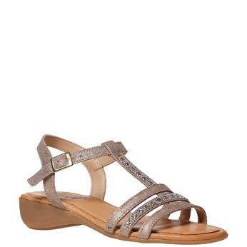 Sandale en cuir femme sundrops, Jaune, 564-8402 - 13