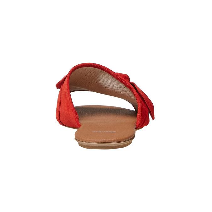 Mule en cuir femme bata, Rouge, 563-5411 - 17
