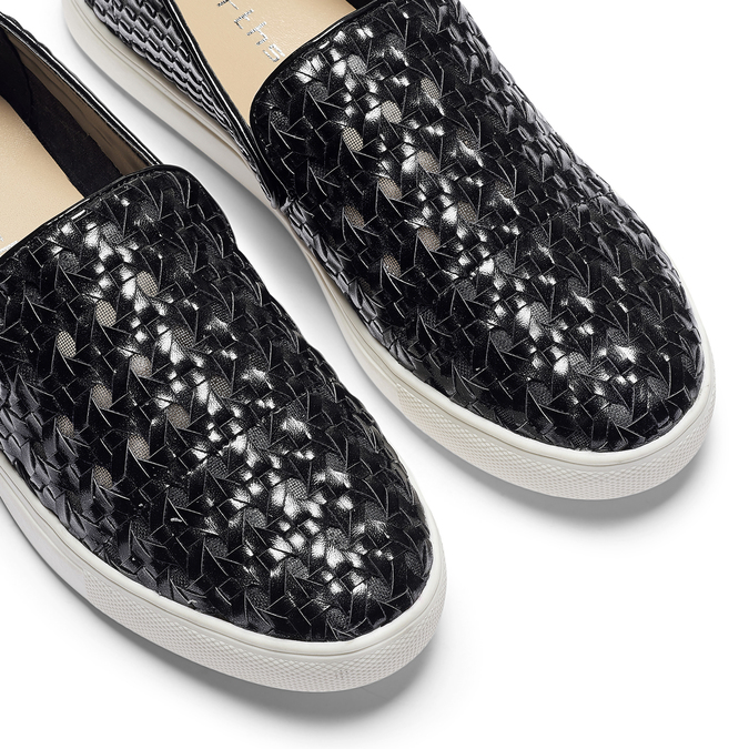 Slip-on avec motif tressé north-star, Noir, 541-6324 - 19