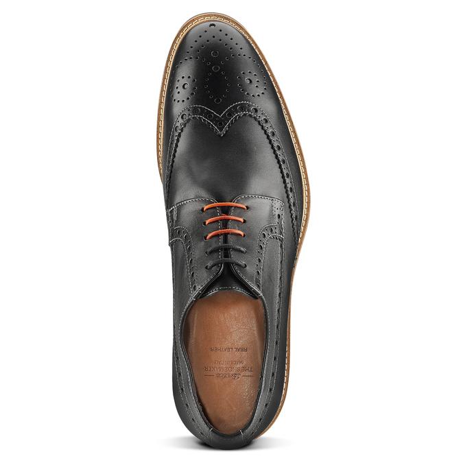 Chaussure lacée en cuir à semelle épaisse bata-the-shoemaker, Noir, 824-6190 - 15