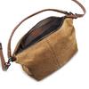 Sac à main surpiqué en cuir bata, Brun, 963-3130 - 16