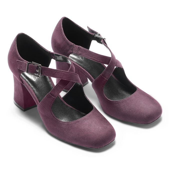 Women's shoes insolia, Rouge, 729-5975 - 19