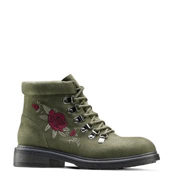 Women's shoes bata, Vert, 599-7183 - 13