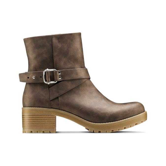 Women's shoes bata, Brun, 691-4451 - 26